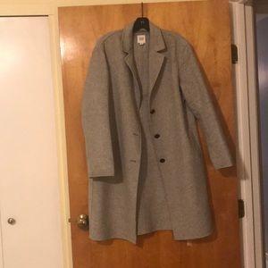 GAP Light Grey Wool Car Coat